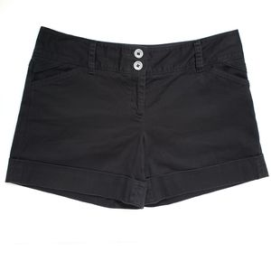 WHBM Black Soft Cuffed Hem Short